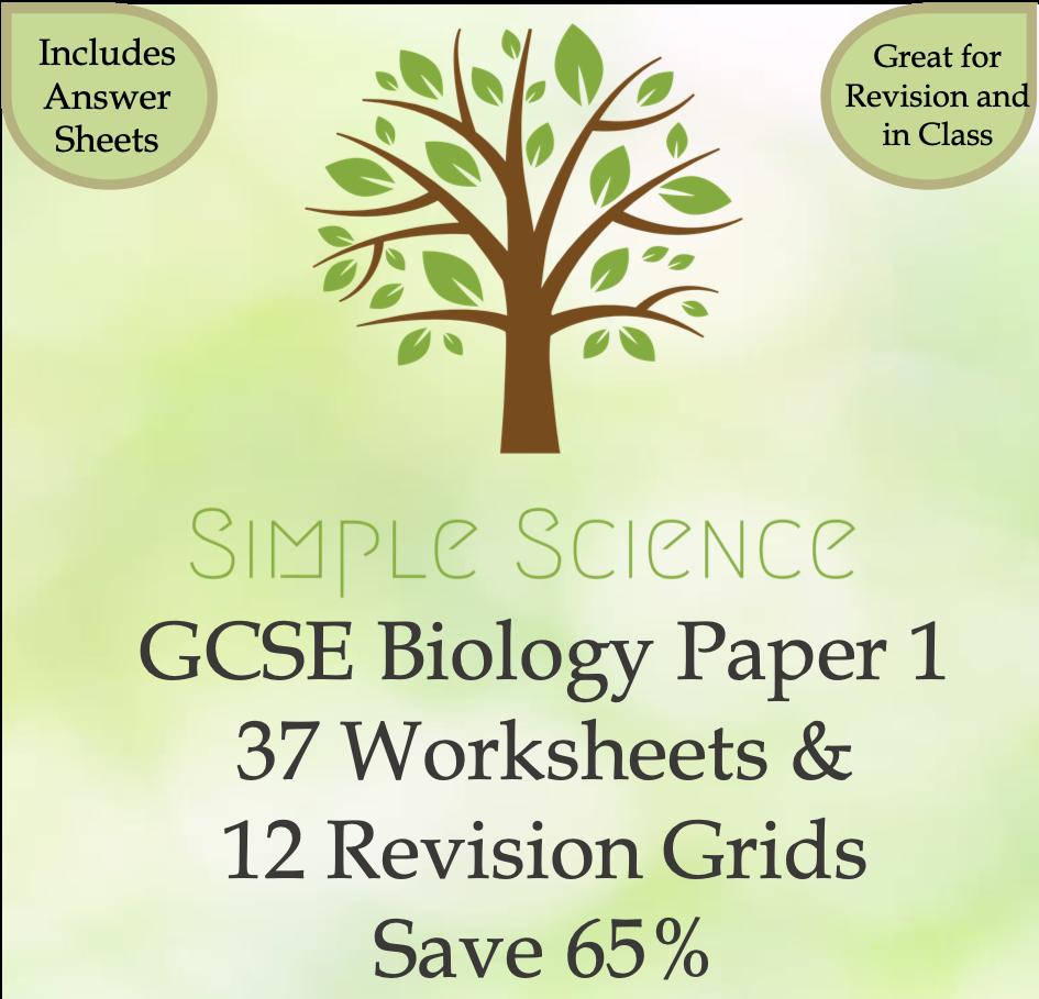 GCSE Biology Paper 1 Worksheets Bundle