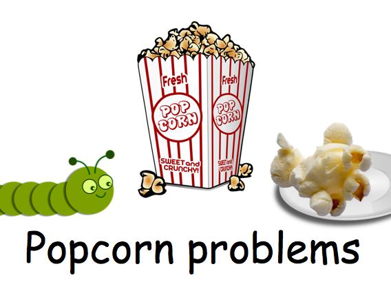 Popcorn Subtraction Problems (0-20)