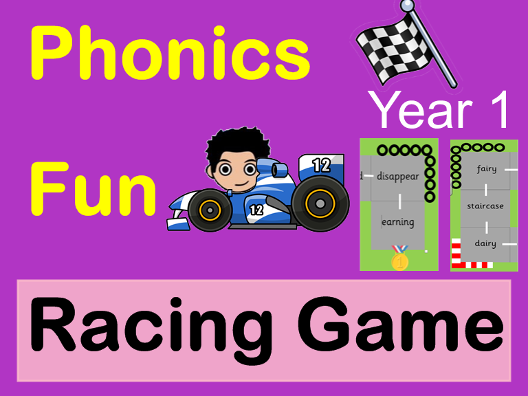 Phonics fun racing board game. Year 1 EYFS Early reading au oi  ear ea & ar sounds Key Stage 1
