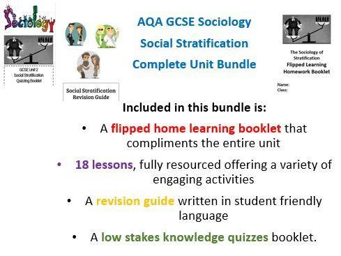 AQA GCSE Sociology Stratification Unit Bundle