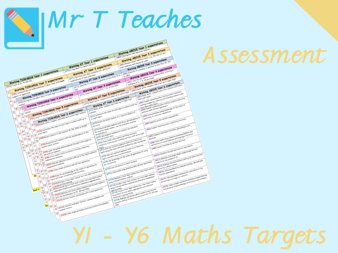 Years 1 - 6 Maths Targets Assessments