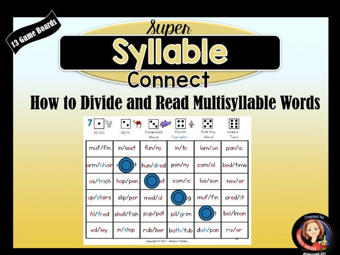 Syllable Division Connect Game