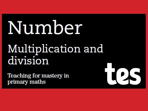 Multiplication and division: Teaching for mastery booklet