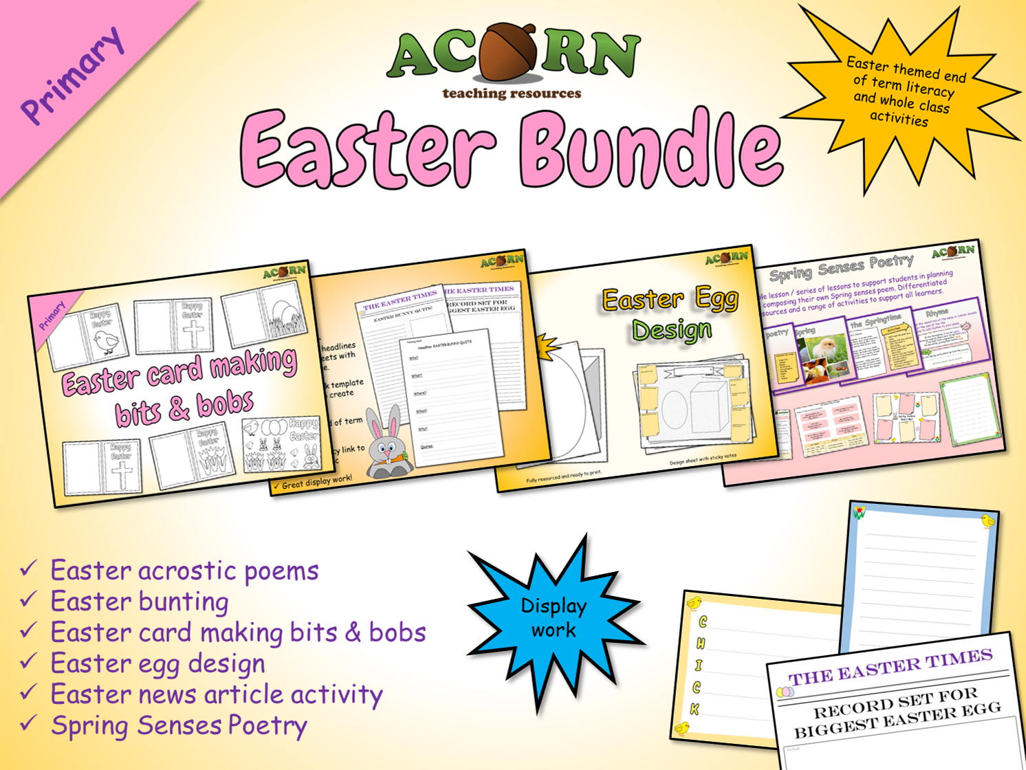 The Acorn Easter Bundle