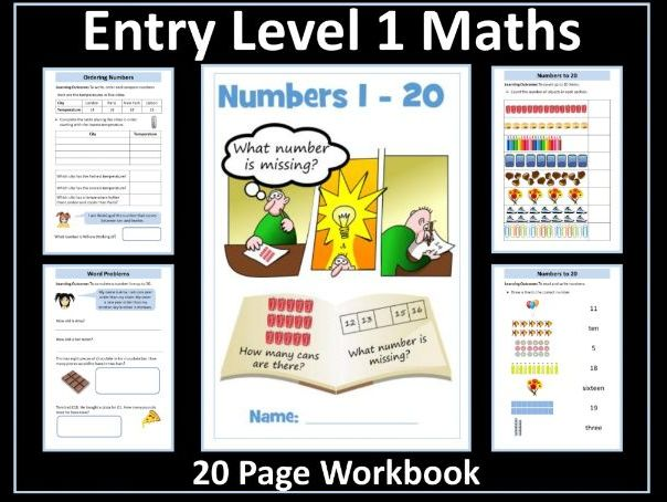 AQA Entry Level Maths: Numbers 1-20