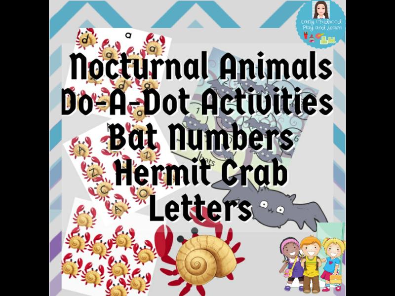 Do-A-Dot Activities Nocturnal Animals