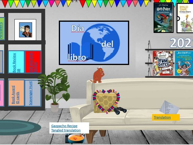 Virtual libraries Spanish/French resources for World Book Day - live lessons or home learning