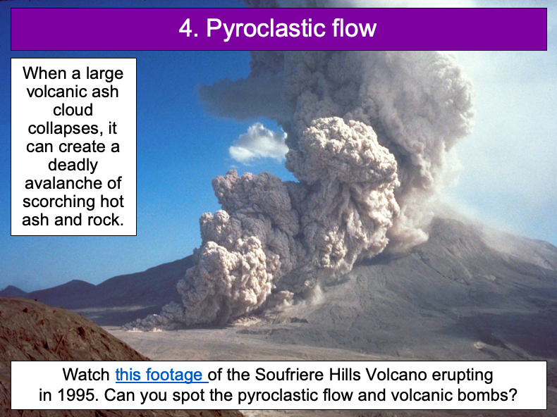 The five deadly features of a volcanic eruption - KS2
