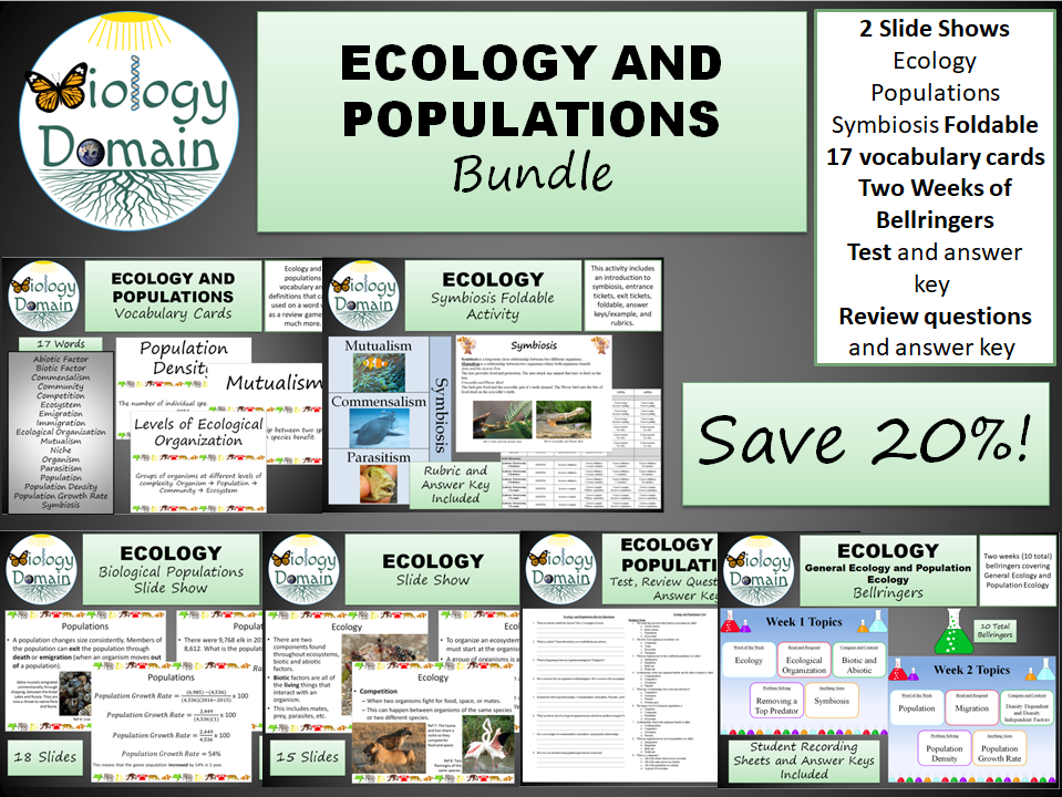 Ecology and Populations Bundle