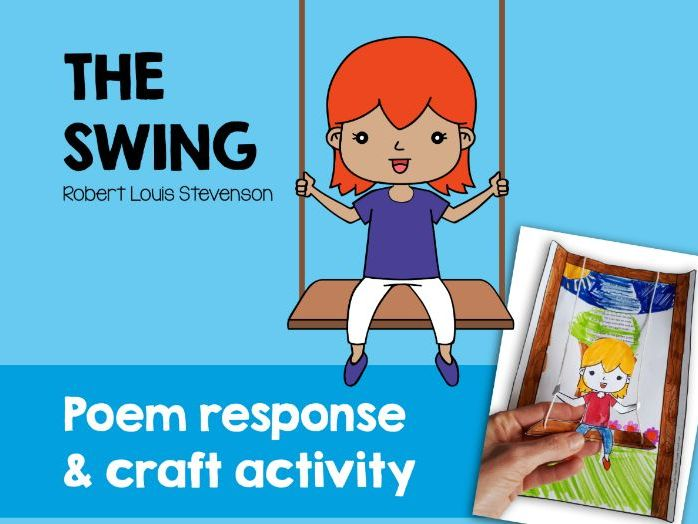 Rhyming words and poem review. 'The Swing' by Robert Louis Stevenson.