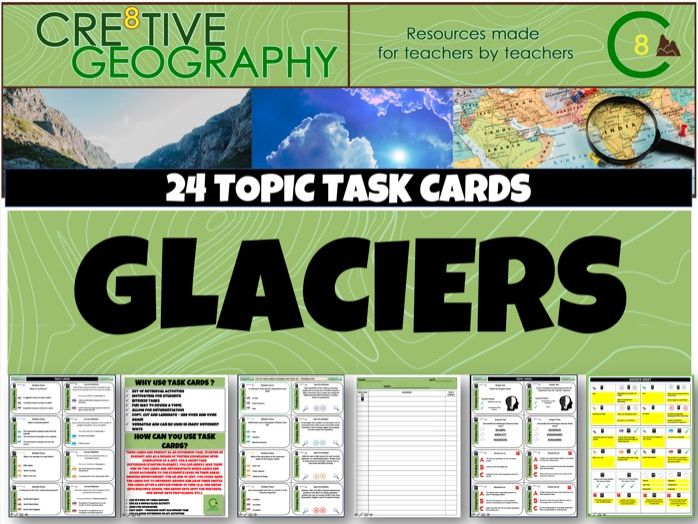 Glaciers Geography Task Cards