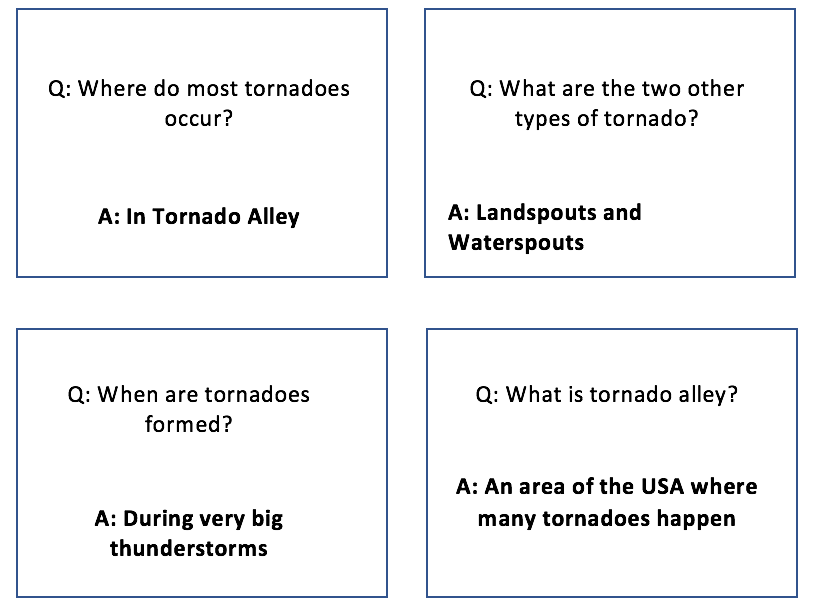 TORNADO Key terms: Quiz Quiz trade