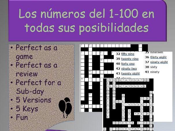 Los números del 1 - 100 (all possible variations)