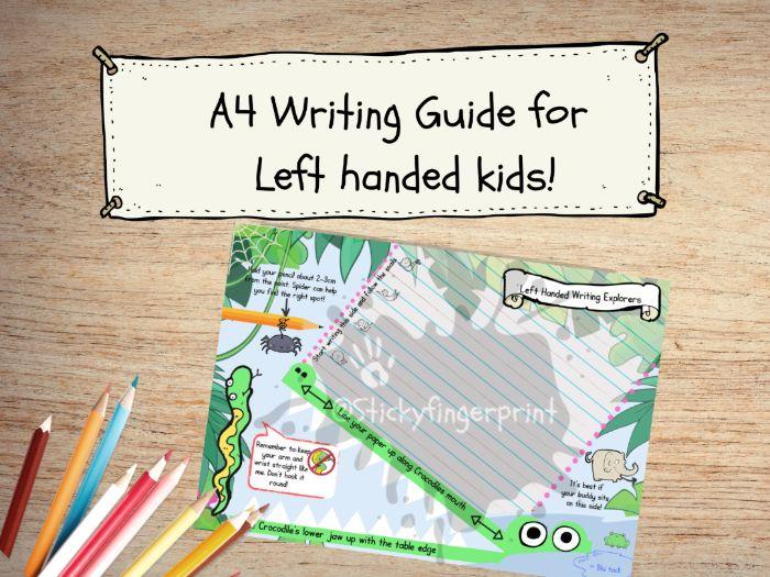 Left Handed writing guide mat
