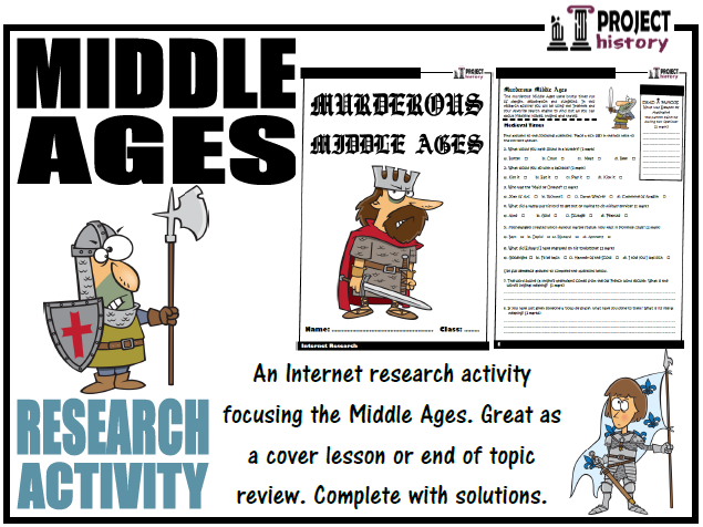 Middle Ages Internet Research Activity