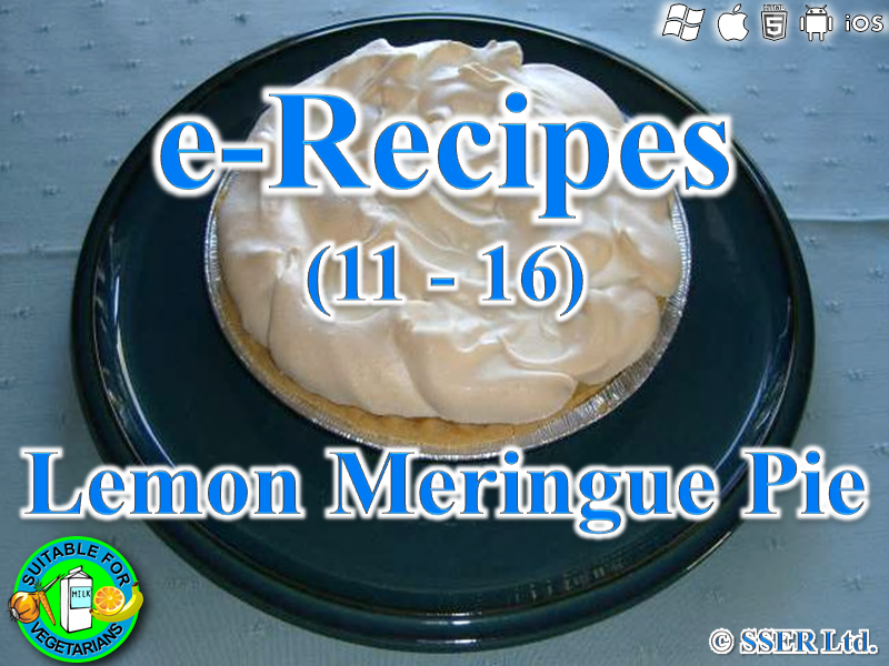 17.   Lemon Meringue Pie (e-Recipe)