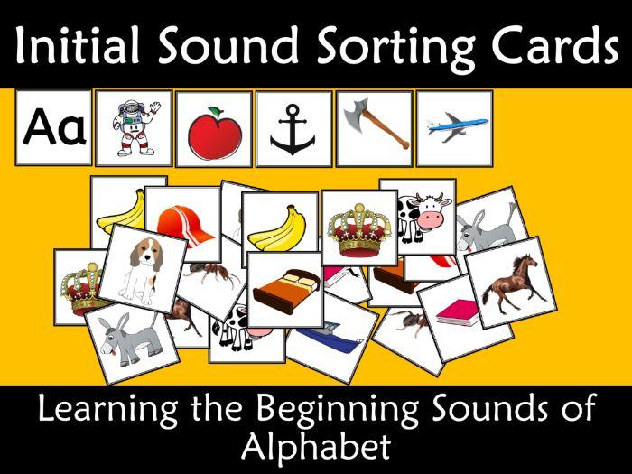 Initial Sound Alphabet Card Sort