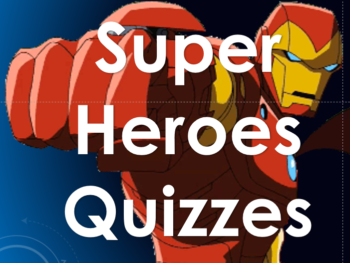 Summer 2017: Quiz Bundle: Superheroes; Cartoon and Comic Book Characters