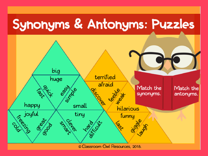 Synonyms & Antonyms: Warm-up Activity