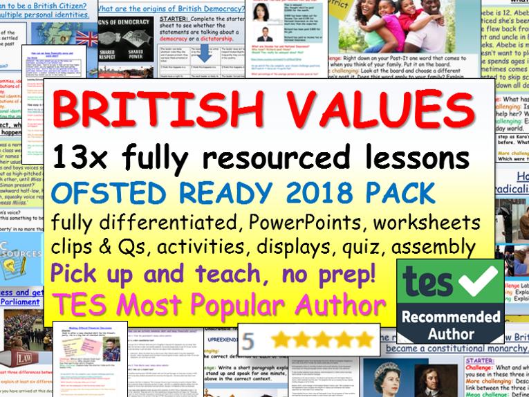 BRITISH VALUES: British Values Bundle