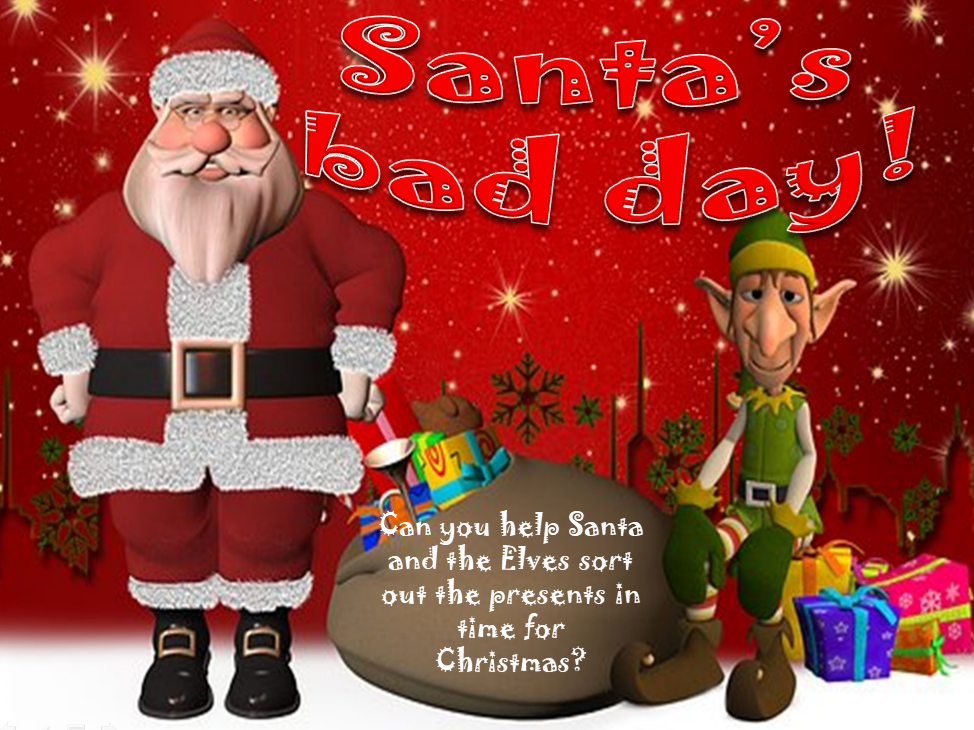 KS2 Santa's bad day! Christmas fun Powerpoint code breaking/co-ordinates lesson of 24 slides.