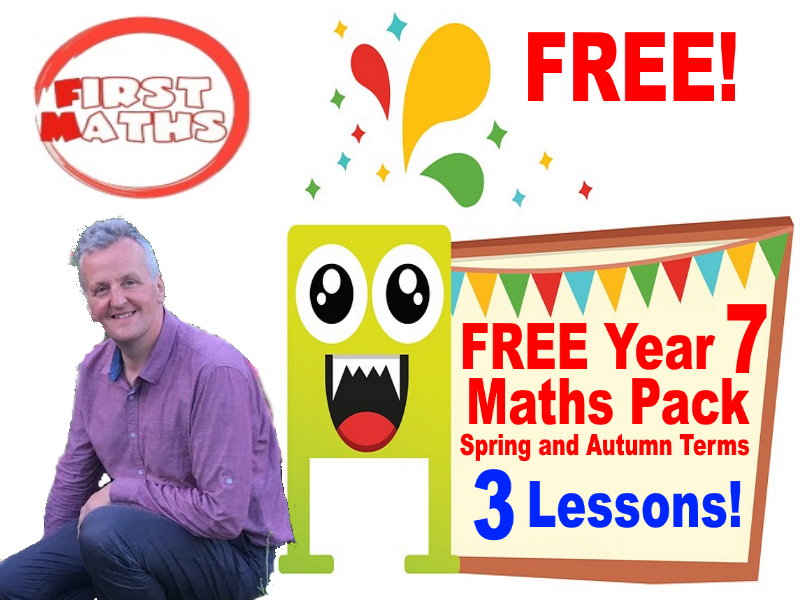 3 FREE YouTube Year 7 Booster Maths PowerPoint Lessons   - Spring Term