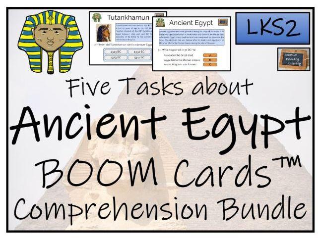 Ancient Egypt - LKS2 BOOM Cards™ Comprehension Activity Bundle