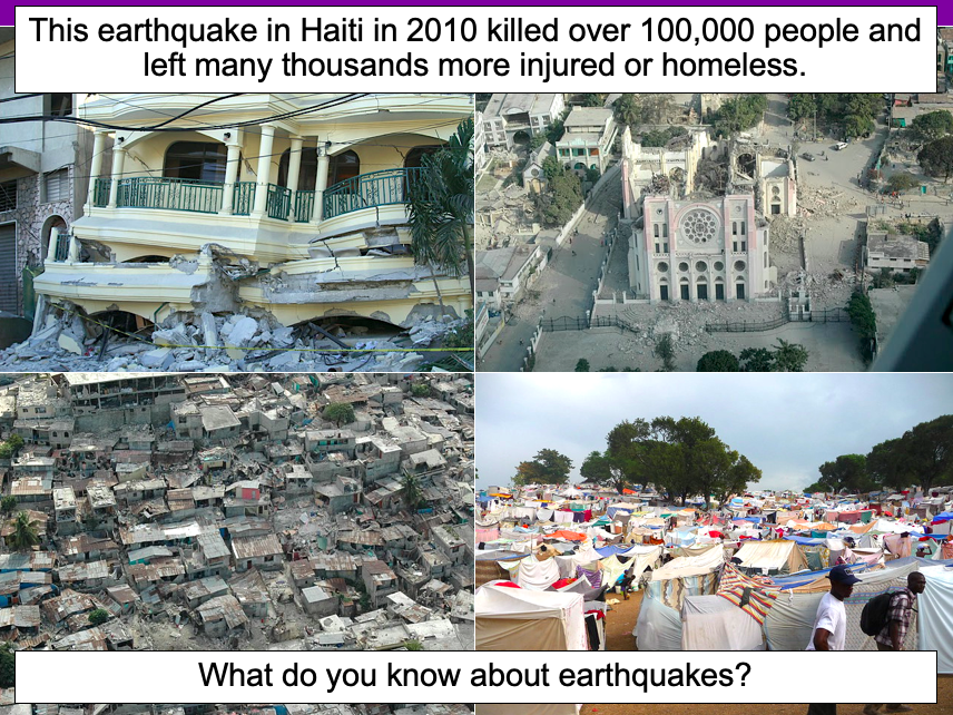 Understanding the causes of an earthquake - KS2
