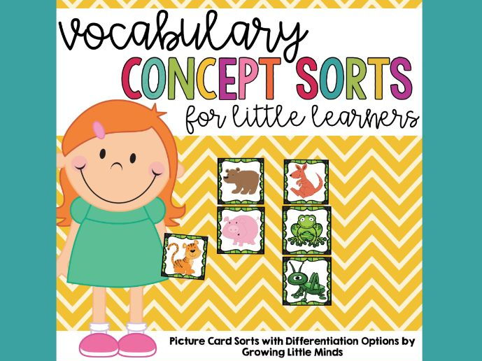 Vocabulary Concept Sorts for Little Learners