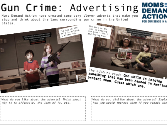 FULL BOOKLET USA Gun Crime - Cross Curricular - Self-Directed
