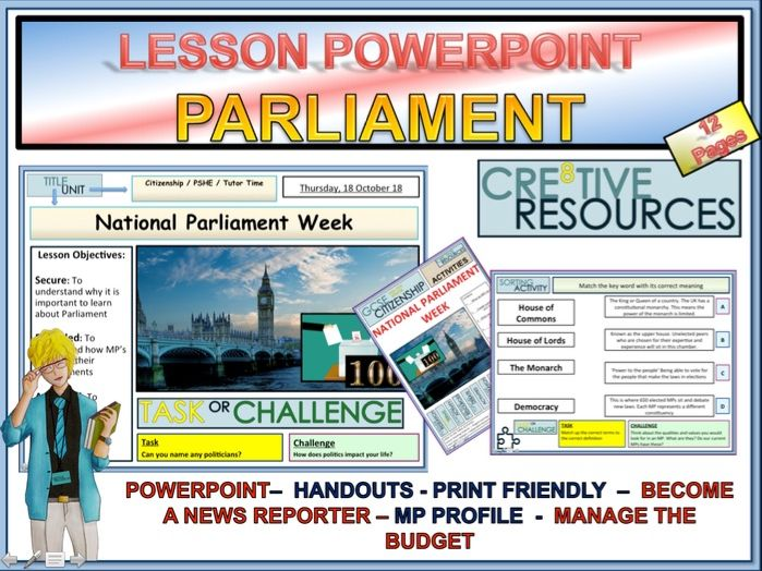 Parliament Week Year 7 - 11 Pack