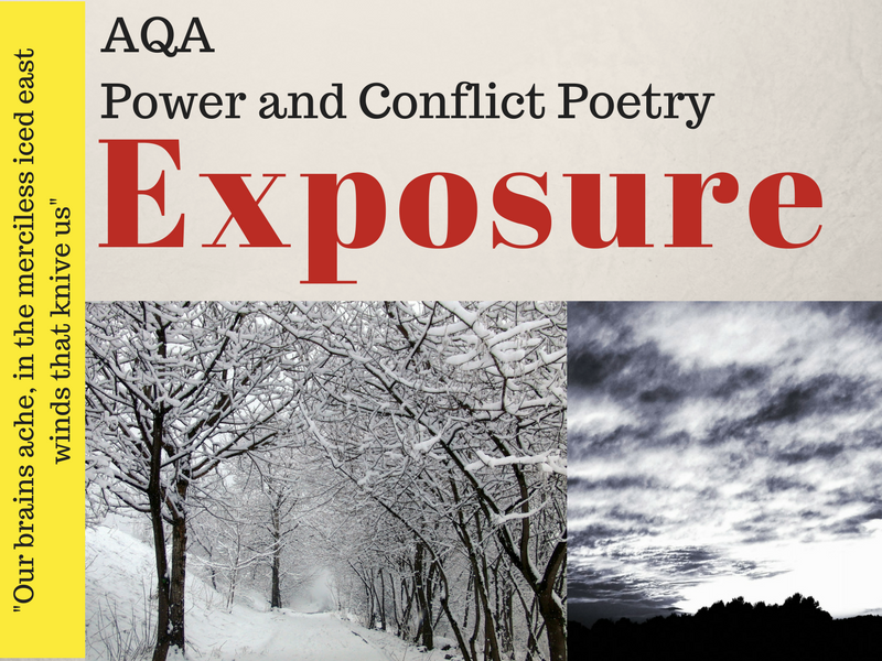 Exposure - Power and Conflict - War Poems Unit - Lessons 5 & 6