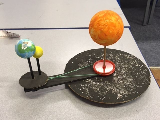 Design and Technology - Inventions - Constructing an Orrery (Small Scale Solar System).