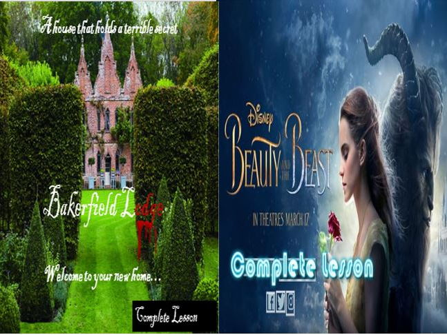 Beauty and the Beast Descriptive Writing + Bakerfield Lodge and a Literacy Game