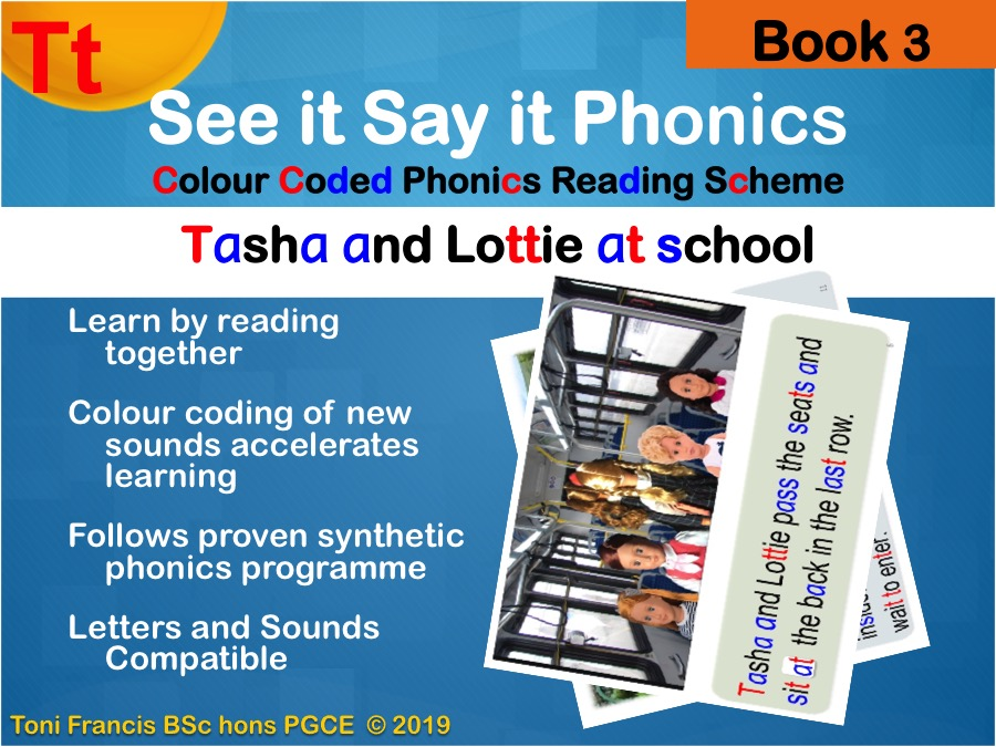 """phonics for whiteboard, tablet, phone book 3 't"""" whole class guided reading phonics"""
