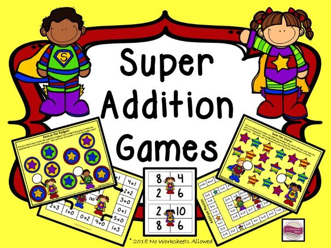 EYFS/Year 1 Superhero Addition Games