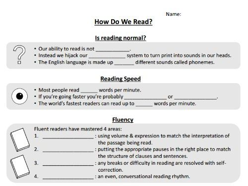 How do we read? - Thinking about reading