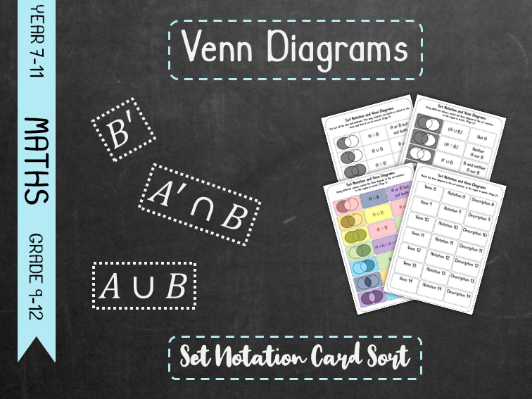 Venn Diagrams - Set Notation Card Sort