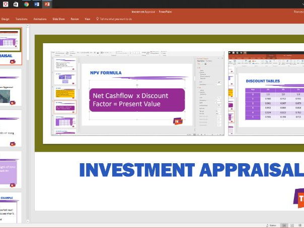Investment Appraisal  powerpoint and student workbook