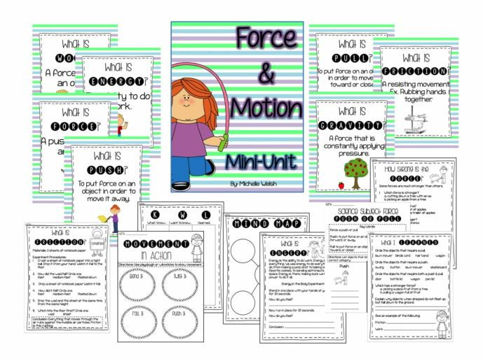 Froce & Motion: Mini-Unit (Anchor Charts, Worksheets & Activities)