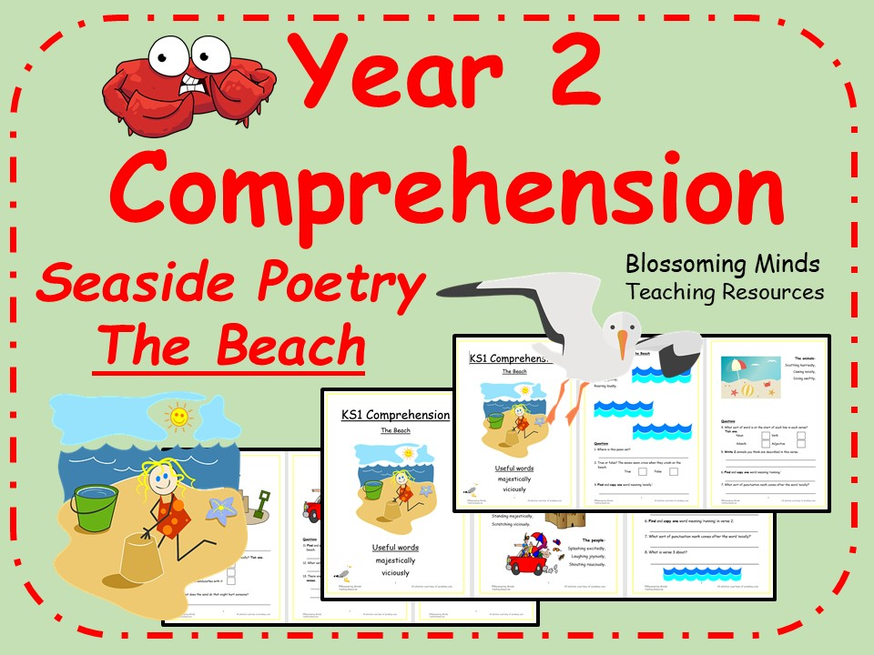 Year 2 Seaside Poetry Comprehension Booklet