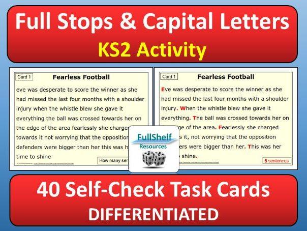 Full Stops / Capital Letters Cards (KS2)