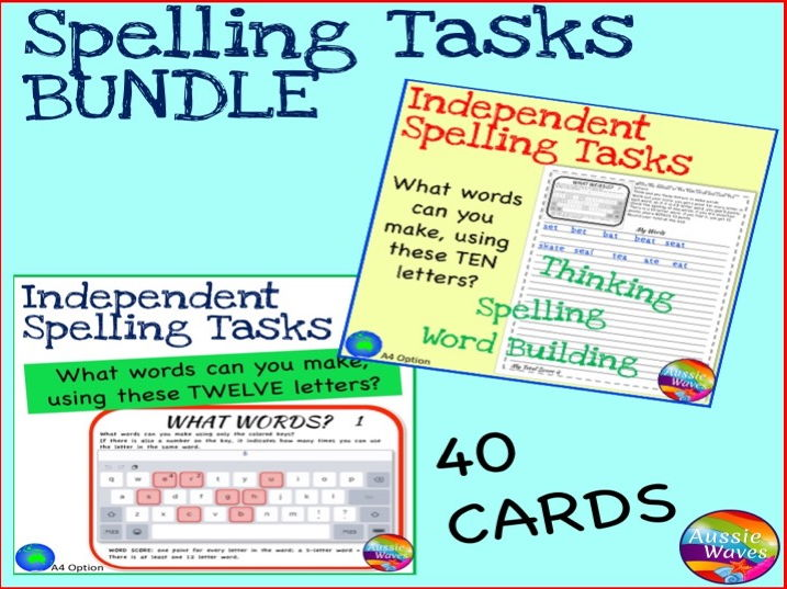 Independent Spelling Games And Word Building Activity Boggle Bundle