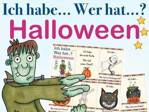 Ich habe ... wer hat? HALLOWEEN - Spiel Wortschatz DAF / Deutsch, German