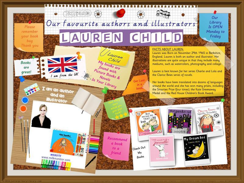 Library Poster - Lauren Child Author/Illustrator Of Charlie & Lola Picture Books