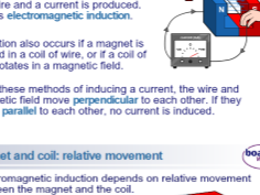 Generators Summary Physics GCSE