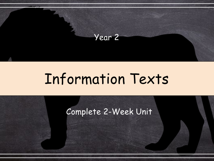 Year 2: Information Texts (Complete 2-Week Unit)