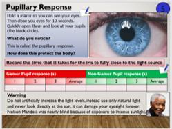 KS4 B10.3.2 Reaction Times (nervous system/reflex action)