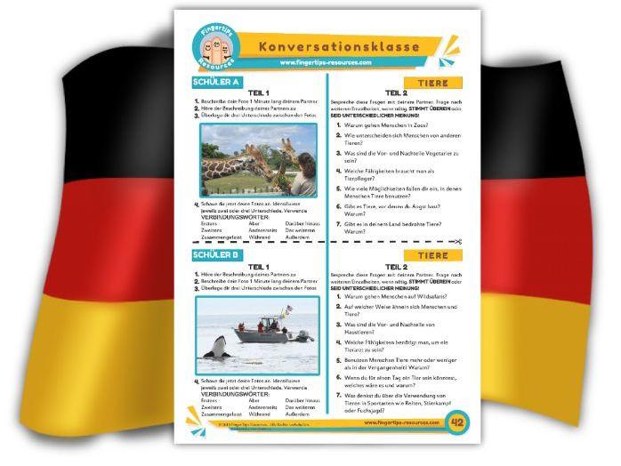 Tiere - German Speaking Activity