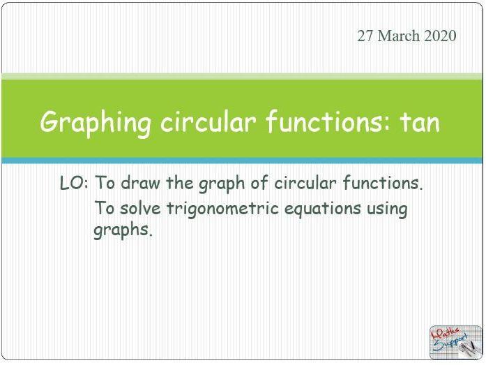 Graphs of circular functions: tangent